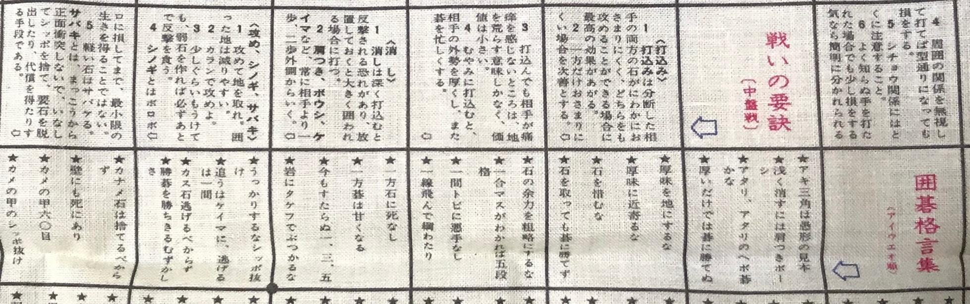 『囲碁百科ハンカチ』 その10