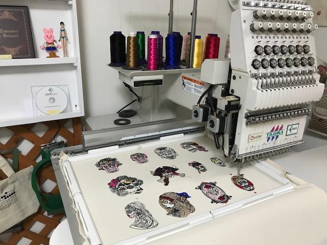 デコレーションズ刺繍CD企画♡ その99♪ 試し縫い entrance embroidery