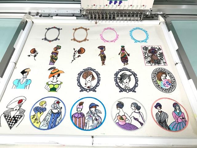 デコレーションズ刺繍CD企画♡ その101♪ 試し縫い entrance embroidery