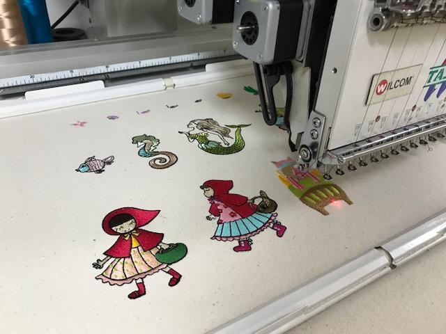 デコレーションズ刺繍CD企画♡ その103♪ 試し縫い entrance embroidery