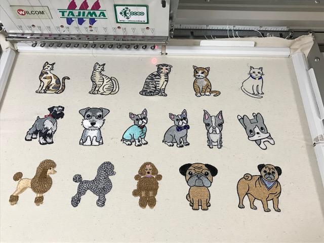 デコレーションズ刺繍CD企画♡ その104♪ 試し縫い entrance embroidery
