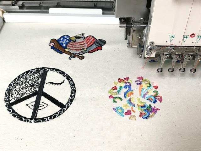デコレーションズ刺繍CD企画♡ その105♪ 試し縫い entrance embroidery