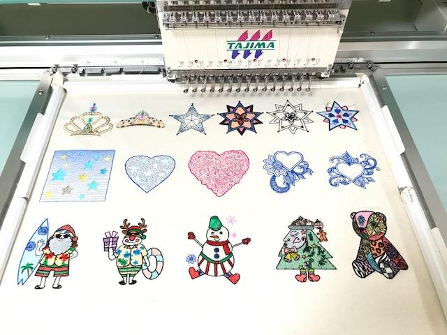 デコレーションズ刺繍CD企画♡ その106♪ 試し縫い entrance embroidery