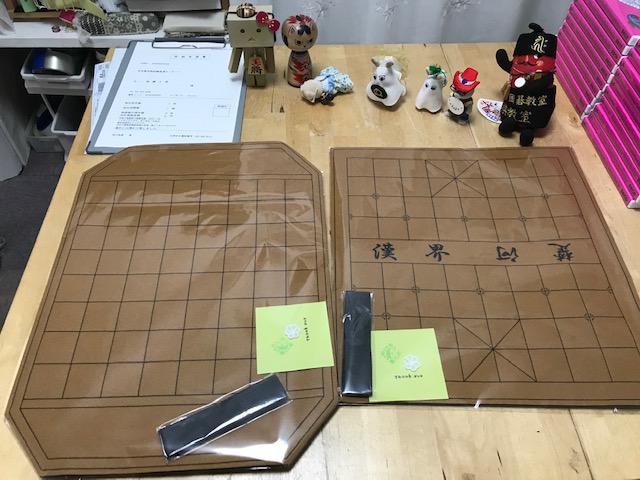 フェルト製シャンチー盤 (中国将棋)とフェルト製 マックルック盤(タイ将棋)のご注文頂きました。ありがとうございます。