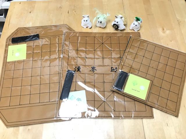 フェルト製中国将棋・禽将棋・タイ将棋盤のご注文を頂きました。ありがとうございます。
