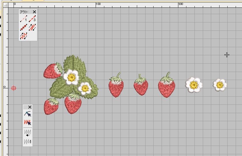新刺繍CD企画 その12 イチゴの刺繍データの鬼検品♪ 心のリセット♪♪