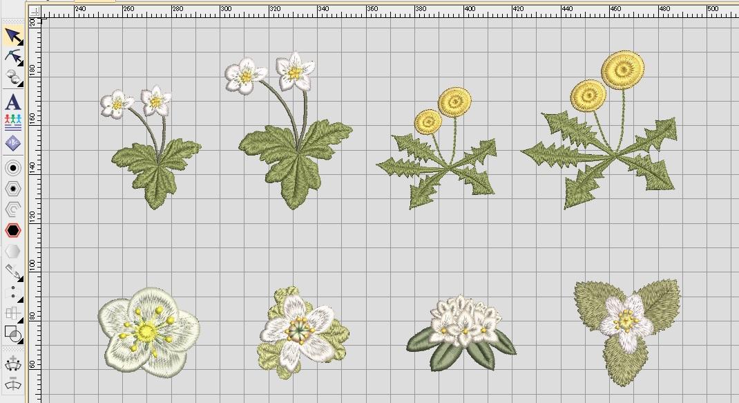 新刺繍CD企画 その14 お花刺繍データの鬼検品♪  ご紹介💕 いろいろ💕