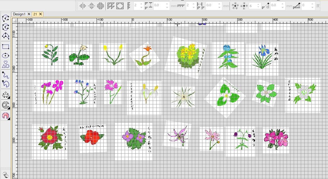 新刺繍CD企画 その29 お花の刺繍データ製作♪ ミシン刺繍来てます。来てます(≧▽≦)✨