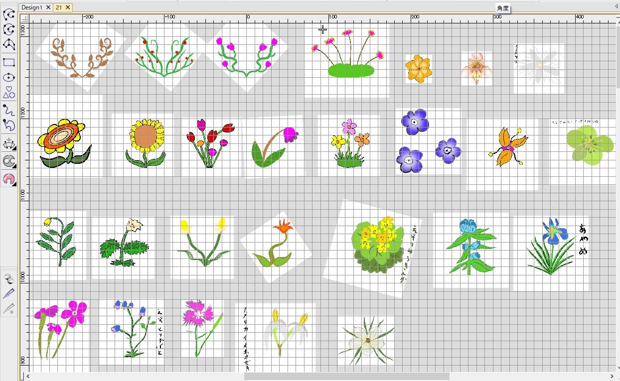 保護中: 新刺繍CD企画 その28 お花の刺繍データ製作♪ 鬼滅の刃の勉強♪
