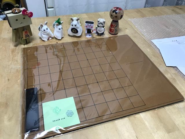 フェルト製 駒台一体型将棋盤 (茶色)のご注文頂きましたヾ(≧▽≦)ノ✨ありがとうございますですっ✨