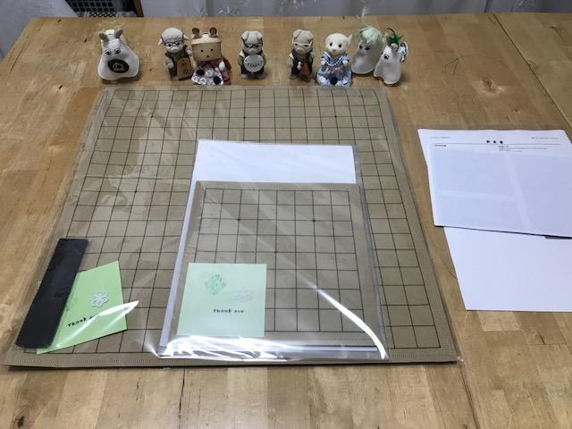 魔法のフェルト碁盤 19路盤と9路盤のご注文を頂きました。ありがとうございます。
