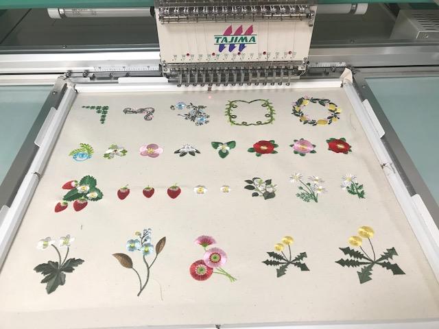 新刺繍CD企画 その71 ボタニカルとキャラクター刺繍の試し縫い♪