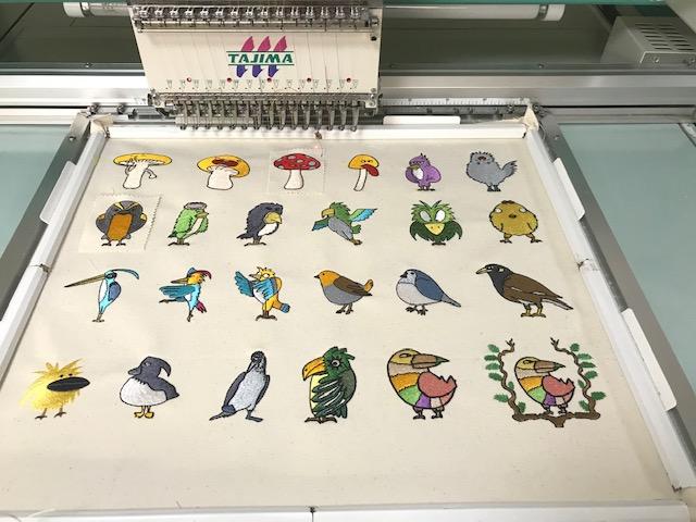 新刺繍CD企画 その72 キャラクター刺繍の試し縫い♪