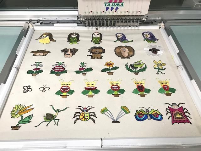 新刺繍CD企画 その74 キャラクター刺繍の試し縫い♪ 2525MOTIFSCDのご注文ありがとうございます。