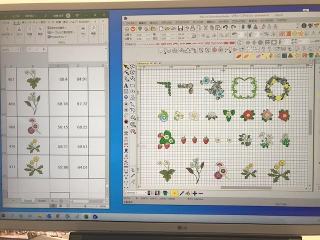 新刺繍CD企画 その78 寸法表の作成♪  生徒様がブラザーのサイトで紹介されました✨