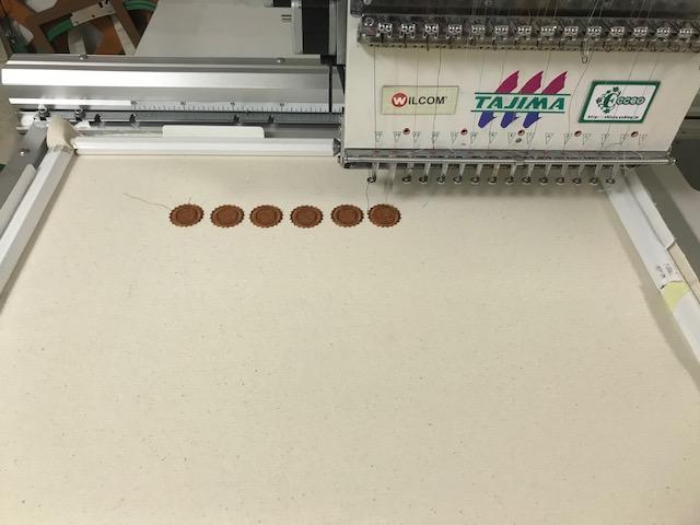 Classical刺繍CD企画♪ その7 ボトルキャップの試し縫い♪♪
