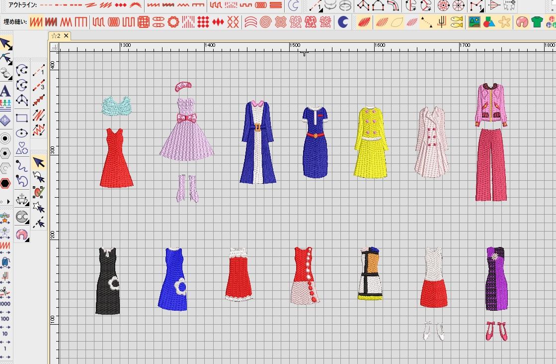 Classical刺繍CD企画♪ その71 着せ替え刺繍データの鬼々検品と編集♪