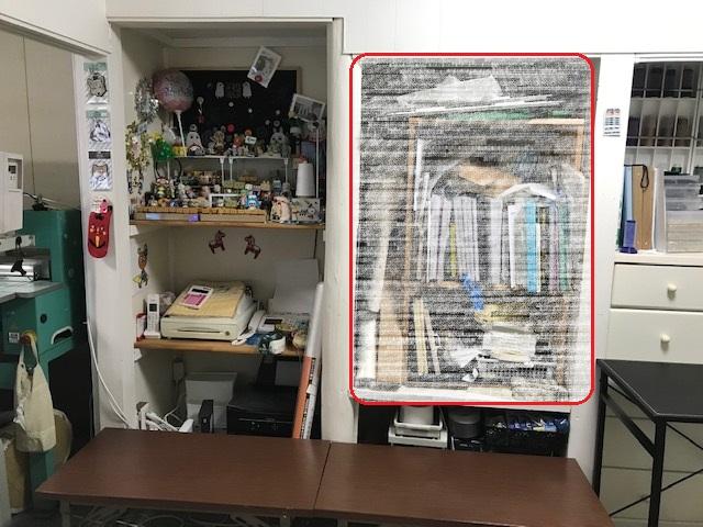 工房のリフォーム28  棚の片付け。