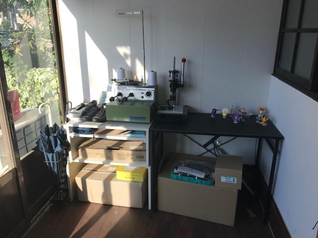 工房のリフォーム24   玄関の片付けと机の移動 月次支援金の画面が変わった。